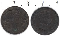 Изображение Монеты Испания 2 сентима 1904 Бронза XF