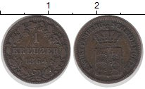 Изображение Монеты Германия Вюртемберг 1 крейцер 1864 Серебро XF-