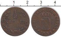 Изображение Монеты Германия Баден 1/2 крейцера 1826 Медь XF-