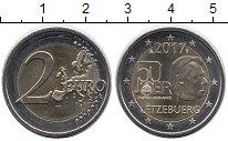 Изображение Мелочь Люксембург 2 евро 2017 Биметалл UNC
