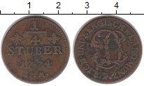 Изображение Монеты Юлих-Берг 1/4 стюбера 1774 Медь XF-