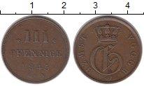 Изображение Монеты Европа Мекленбург-Стрелиц 3 пфеннига 1845 Медь XF