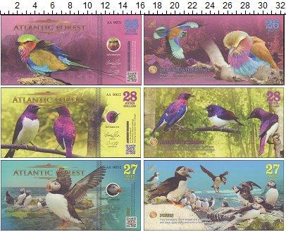 Изображение Банкноты Атлантический лес Атлантический лес 2017  UNC 26, 27, 28 долларов.