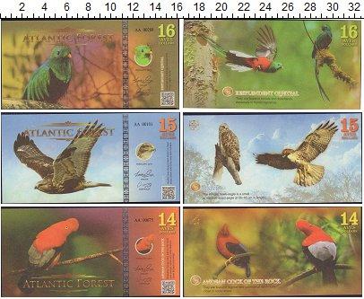 Изображение Банкноты Атлантический лес Атлантический лес 2017  UNC 14, 15, 16 долларов.