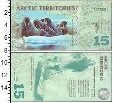 Изображение Банкноты Арктика 15 долларов 2011  UNC