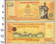 Изображение Банкноты Бутан 1000 нгултрум 2008  UNC