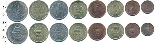 Изображение Наборы монет Европа Испания Европроба 1998 1998  UNC-