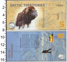 Изображение Банкноты Арктика 5 долларов 2012  UNC