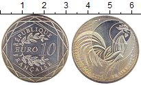 Изображение Монеты Франция 10 евро 2016 Серебро UNC- Петух