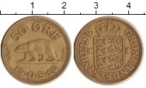 Изображение Монеты Гренландия 50 эре 1926 Латунь XF