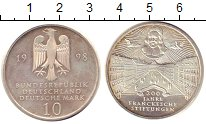 Изображение Монеты ФРГ 10 марок 1998 Серебро UNC-