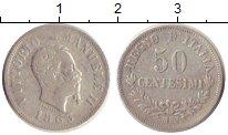 Изображение Монеты Италия 50 сентесим 1863 Серебро XF- Виктор  Эммануил II