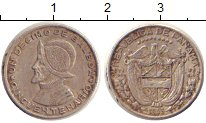 Изображение Монеты Северная Америка Панама 1/10 бальбоа 1953 Серебро XF