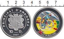 Изображение Монеты Андорра 10 динерс 2007 Серебро Proof Цифровая  печать.  X