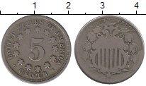 Изображение Монеты Северная Америка США 5 центов 1867 Медно-никель VF+