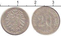 Изображение Монеты Германия 20 пфеннигов 1874 Серебро VF