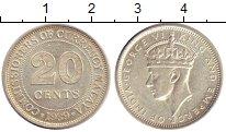 Изображение Монеты Малайя 20 центов 1939 Серебро XF+