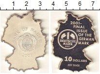 Изображение Монеты Науру 10 долларов 2001 Серебро Proof-