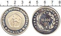 Изображение Монеты Азия Турция 10000 лир 1986 Серебро Proof-