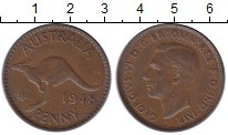 Изображение Монеты Австралия 1 пенни 1948 Бронза XF