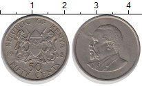Изображение Монеты Кения 50 центов 1968 Медно-никель XF