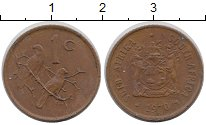 Изображение Монеты Африка ЮАР 1 цент 1970 Бронза XF