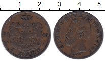 Изображение Монеты Румыния 5 бани 1883 Бронза XF