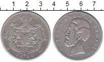Изображение Монеты Румыния 5 лей 1883 Серебро VF Карл I
