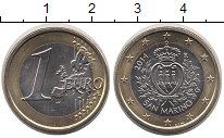 Изображение Мелочь Сан-Марино 1 евро 2014 Биметалл UNC