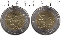 Изображение Монеты Финляндия 5 евро 2007 Биметалл XF
