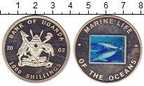 Изображение Монеты Африка Уганда 1000 шиллингов 2002 Посеребрение Proof-