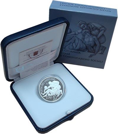 Изображение Подарочные монеты Европа Ватикан День социальных коммуникаций 2014 Серебро Proof