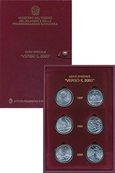 Изображение Подарочные монеты Европа Италия VERSO IL 2000 2000 Серебро