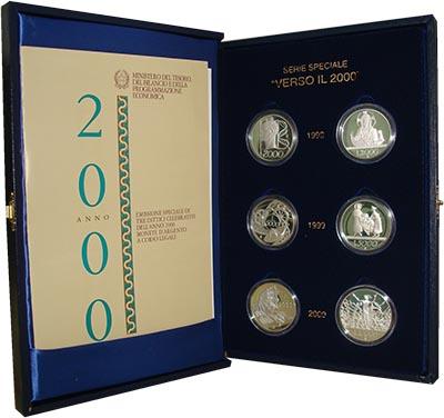 Изображение Подарочные монеты Италия VERSO IL 2000 2000 Серебро Proof