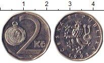 Изображение Дешевые монеты Европа Чехия 2 кроны 1993 Медно-никель XF
