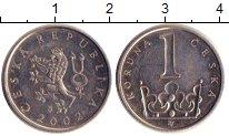 Изображение Дешевые монеты Европа Чехия 1 крона 2002 Медно-никель XF-