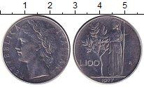 Изображение Дешевые монеты Италия 100 лир 1977 Медно-никель XF-