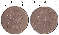 Изображение Дешевые монеты Норвегия 1 крона 1976 Медно-никель XF-