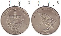 Изображение Монеты Куба 1 песо 1985 Медно-никель UNC Защита природы. Игуа