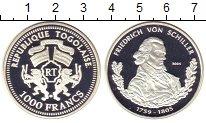 Изображение Монеты Того 1000 франков 2004 Серебро Proof
