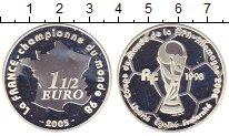 Изображение Монеты Франция 1 1/2 евро 2005 Серебро Proof- Чемпионат мира по фу