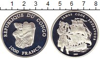 Изображение Монеты Африка Конго 1000 франков 2003 Серебро Proof
