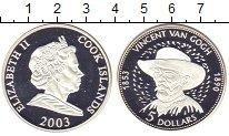 Изображение Монеты Острова Кука 5 долларов 2003 Серебро Proof