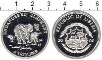 Изображение Мелочь Либерия 5 долларов 2000 Серебро Proof