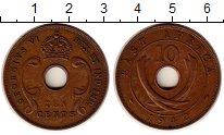 Изображение Монеты Восточная Африка 10 центов 1942 Бронза XF