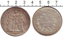 Изображение Монеты Европа Франция 5 франков 1874 Серебро XF