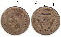 Изображение Монеты Африка ЮАР 3 пенса 1940 Серебро XF