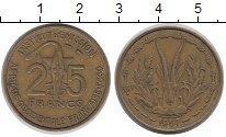 Изображение Монеты Африка Французская Западная Африка 25 франков 1957 Латунь XF
