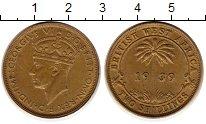 Изображение Монеты Западная Африка 2 шиллинга 1939 Латунь XF