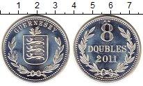 Изображение Монеты Великобритания Гернси 8 дублей 2011 Серебро Proof-